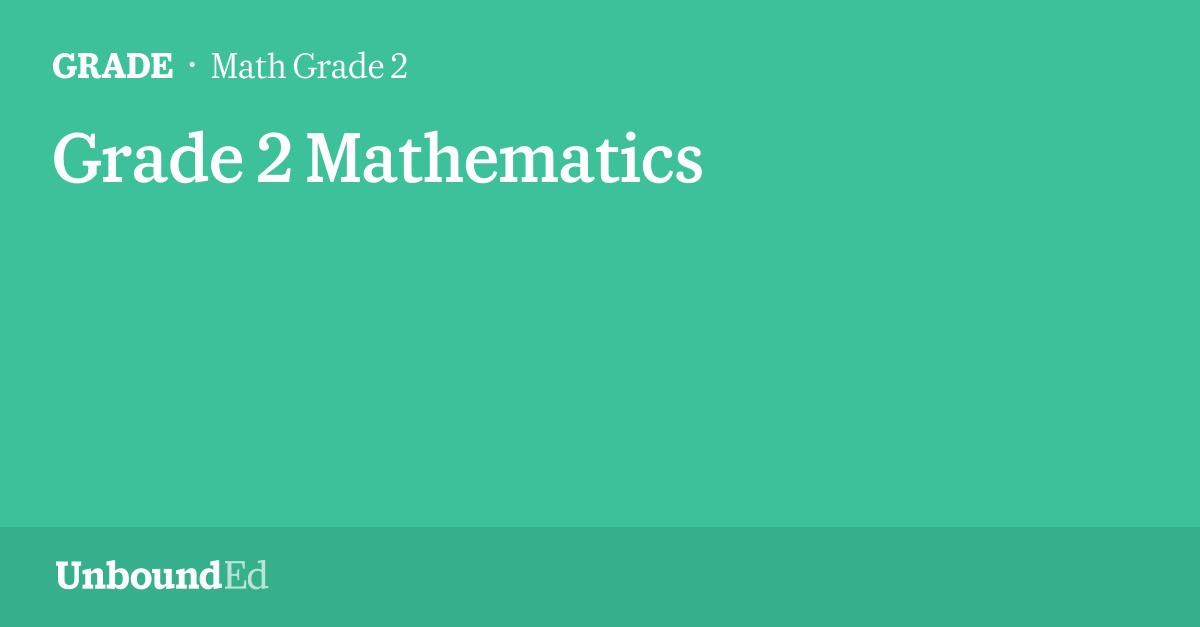 MATH G2: Grade 2 Mathematics