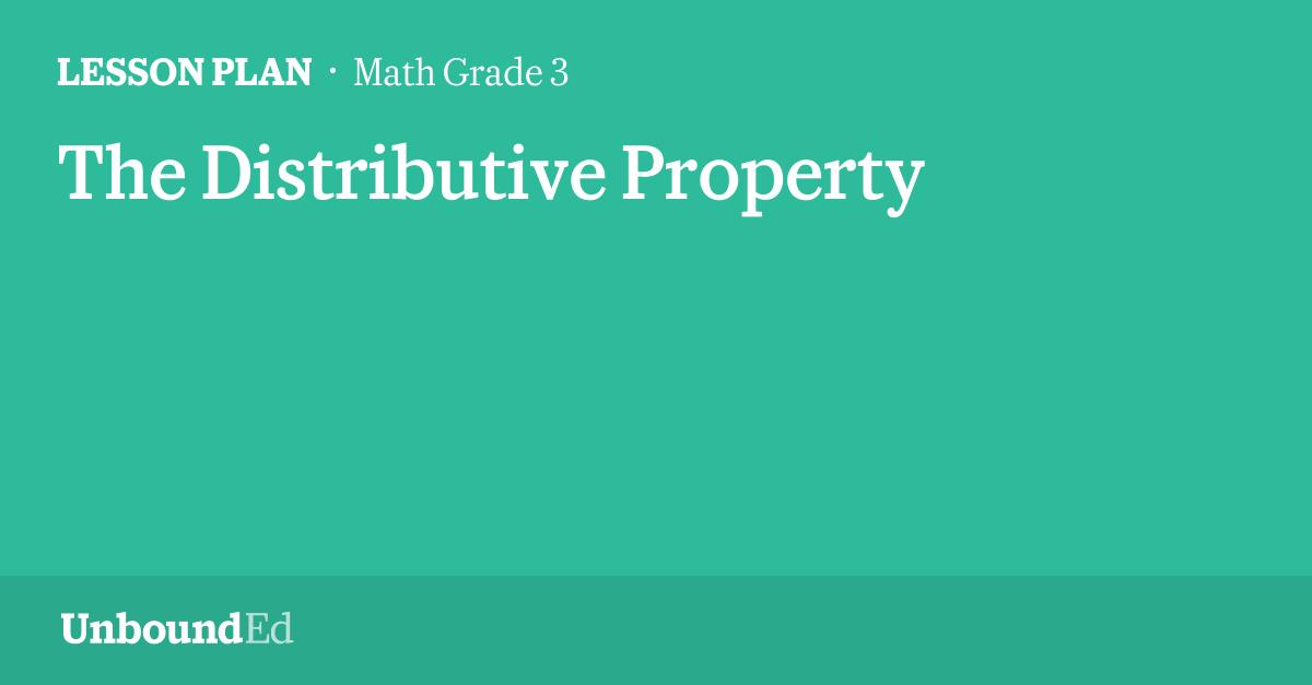 MATH G3: The Distributive Property