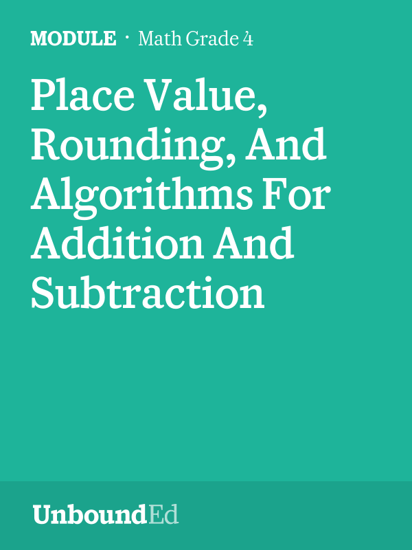 MATH G4: Place Value, Rounding, And Algorithms For Addition And ...