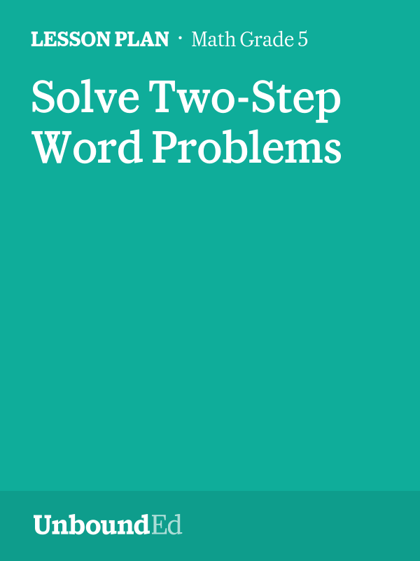MATH G5: Solve Two-Step Word Problems
