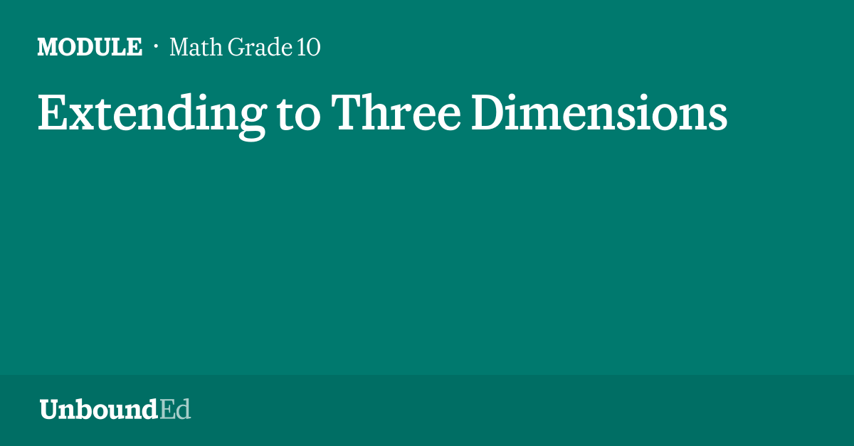 math g10  extending to three dimensions