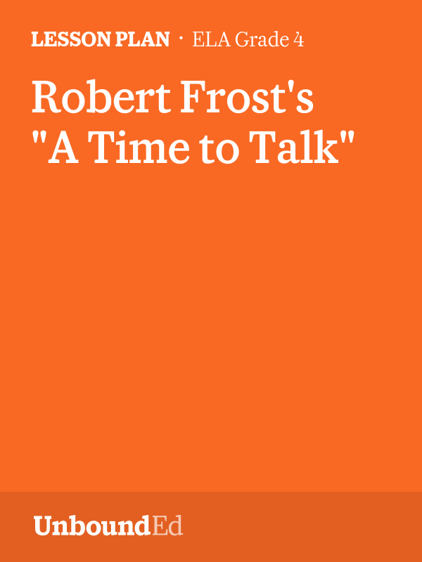 a time to talk by robert frost