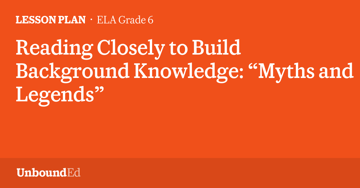 how to build background knowledge for ells